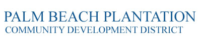 Palm Beach Plantation Community Development District Logo
